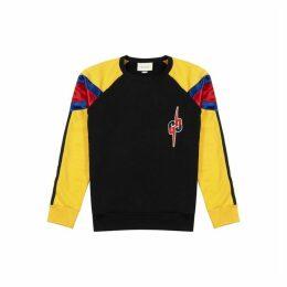 Gucci Panelled Logo-appliquéd Cotton Sweatshirt
