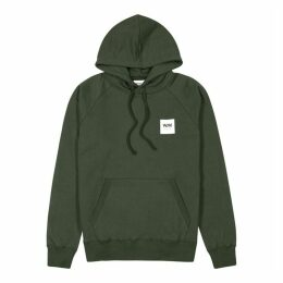 Wood Wood Fred Olive Hooded Cotton Sweatshirt