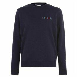 Lacoste Rainbow Logo Crew Sweater