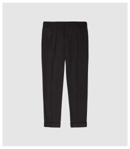 Reiss Runner - Striped Casual Trousers in Navy/bordeaux, Mens, Size 38