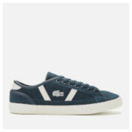 Lacoste Men's Sideline Suede Trainers - Navy/Off White - UK 11