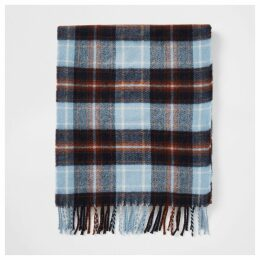 Mens River Island Ecru check scarf