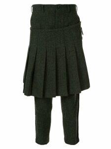 Comme Des Garçons Pre-Owned front kilt trousers - Green