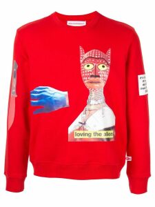 Walter Van Beirendonck Pre-Owned Loving the Alien sweatshirt - Red