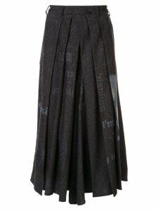 Yohji Yamamoto Pre-Owned pleated wide leg trousers - Grey