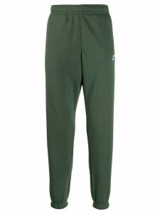Nike embroidered logo track trousers - Green