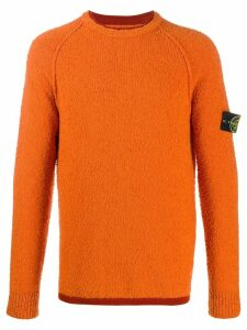 Stone Island logo sweatshirt - Orange