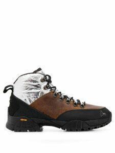 Roa colour block lace-up boots - Brown