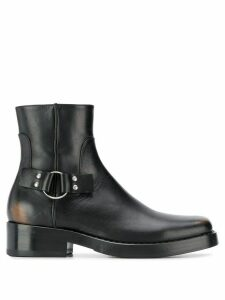Raf Simons buckle-detail ankle boots - Black