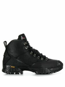 Roa leather lace-up boots - Black