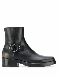 Raf Simons distressed ankle boots - Black