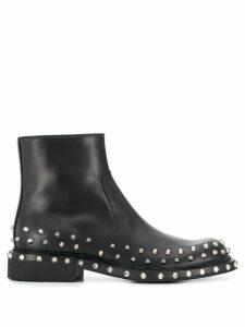 Prada studded ankle boots - Black
