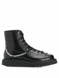Neil Barrett chain boots - Black