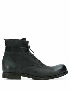 Officine Creative distressed lace-up ankle boots - Black