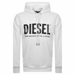 Diesel Division Logo Hoodie White