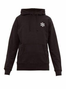 Reigning Champ - Logo Print Cotton Jersey Hooded Sweatshirt - Mens - Black