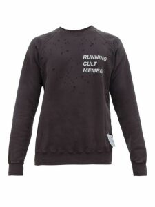 Satisfy - Cult Moth Eaten Sweatshirt - Mens - Black