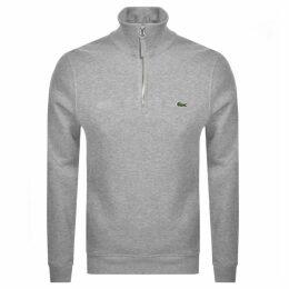 Lacoste Half Zip Sweatshirt Grey
