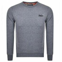 Superdry Orange Label Crew Neck Sweatshirt Blue