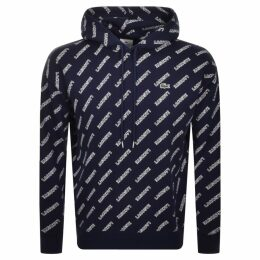 Lacoste Live Logo Pullover Hoodie Navy