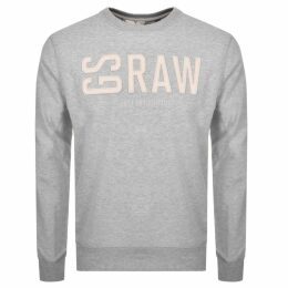 G Star Raw Core Crew Neck Sweatshirt Grey
