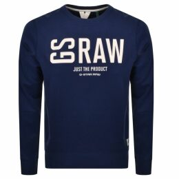 G Star Raw Core Crew Neck Sweatshirt Blue