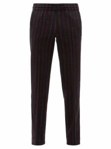 Missoni - Striped Knitted Wool Blend Trousers - Mens - Navy Multi
