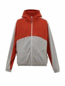 P.a.m. - Bi Colour Zip Through Hooded Fleece Jacket - Mens - Grey Multi