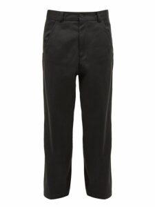 Haider Ackermann - Cotton Twill Straight Leg Trousers - Mens - Grey