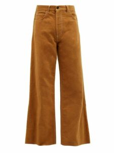 Marni - Brushed Cotton Twill Wide Leg Jeans - Mens - Beige