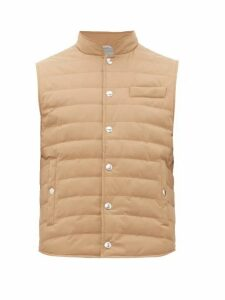 Brunello Cucinelli - Quilted Down Shell Gilet - Mens - Brown