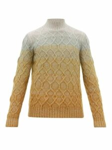 Missoni - Ombré Cable-knitted Wool-blend Sweater - Mens - Multi