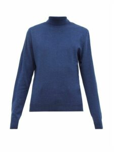 Oliver Spencer - Roll Neck Merino Wool Sweater - Mens - Blue