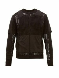 Craig Green - Crocheted Wool And Cotton Jersey Sweater - Mens - Black