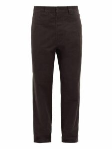 Mhl By Margaret Howell - High Rise Cotton Twill Trousers - Mens - Black