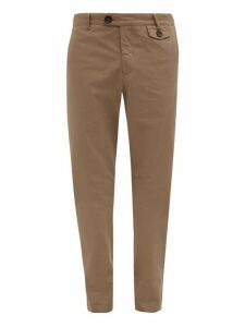 Oliver Spencer - Fishtail Cotton Trousers - Mens - Brown