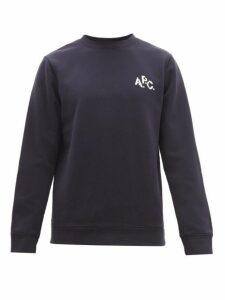 A.p.c. - Naim Logo Print Cotton Sweatshirt - Mens - Navy