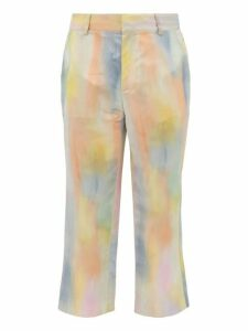 Sies Marjan - Alex Watercolour Print Satin Trousers - Mens - Multi