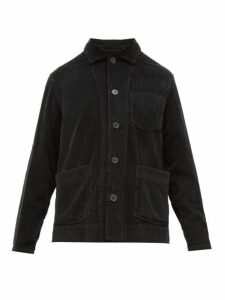 Altea - Wide Wale Cotton Corduroy Jacket - Mens - Black