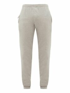 Vetements - Logo Embroidered Cotton Track Pants - Mens - Grey