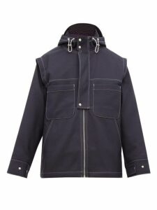 Jacquemus - Hood Cap Detail Jacket - Mens - Navy