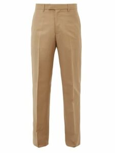 Bottega Veneta - Mohair Blend Slim Fit Trousers - Mens - Camel