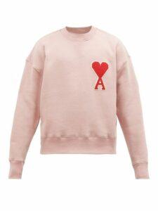 Ami - Ami De Caur Logo Patch Cotton Sweatshirt - Mens - Pink