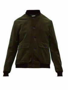 Oliver Spencer - Lockton Corduroy Bomber Jacket - Mens - Green