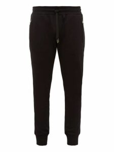 Dolce & Gabbana - Logo Embroidered Cotton Track Pants - Mens - Black