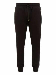 Dolce & Gabbana - Logo Embroidered Cotton Track Pants - Mens - Black