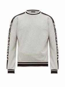 Dolce & Gabbana - Logo Jacquard Cotton Sweatshirt - Mens - Grey