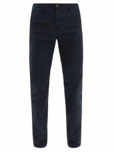 Incotex - Slim Fit Cotton Blend Chino Trousers - Mens - Navy