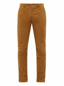 Incotex - Slim Fit Cotton Blend Chino Trousers - Mens - Beige