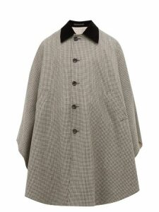 Gucci - Houndstooth Wool Cape - Mens - Black Multi